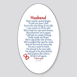 Husband Love Sticker (Oval)